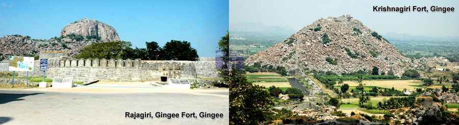 Rajagiri Gingee Fort & Krishnagiri Fort